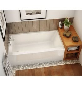 "Maax Maax Rubix 60""x32"" Alcove Tub White Right Drain"
