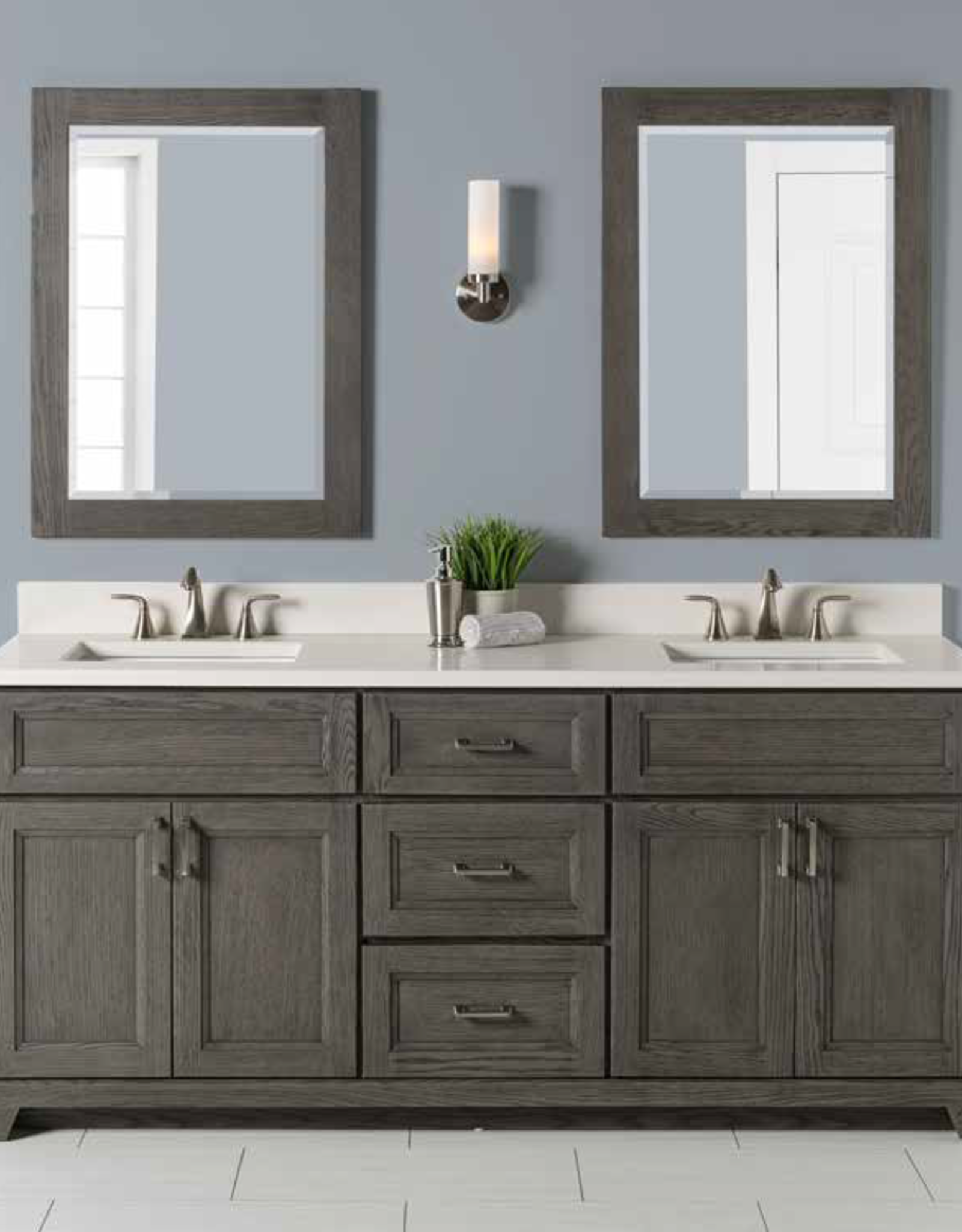 "Stonewood Premium 72"" Double Bowl Vanity, Top and Sink"