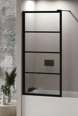"Fleurco Fleurco Latitude Tub Panel Matte Black/Clear 32 1/2"" x 66 3/4"""