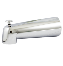 "7"" Slip-Fit Tub spout w/ Diverter- Brushed Nickel"
