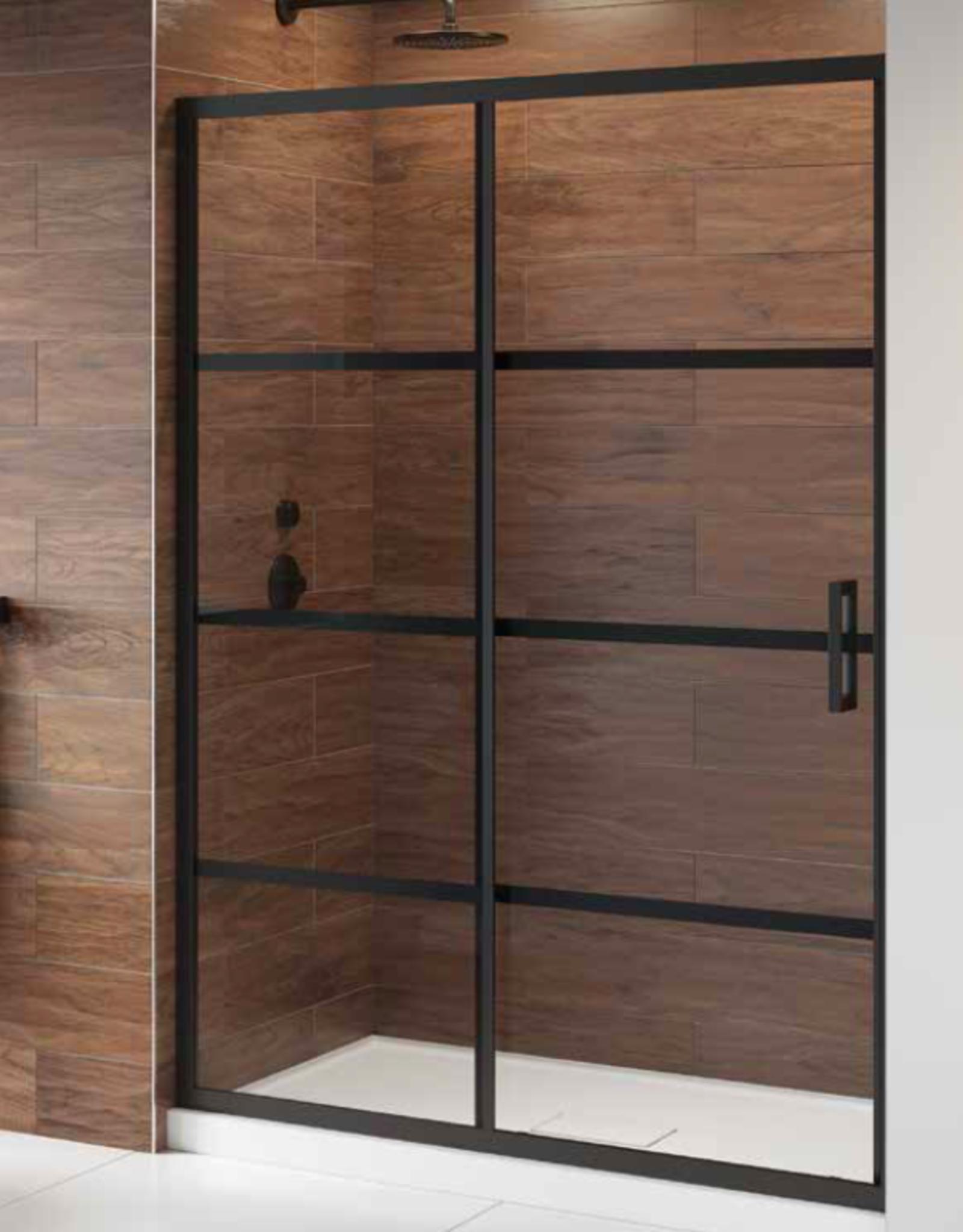 """Fleurco Fleurco Latitude In-Line 60"""" Sliding Door with Fixed Panel"""