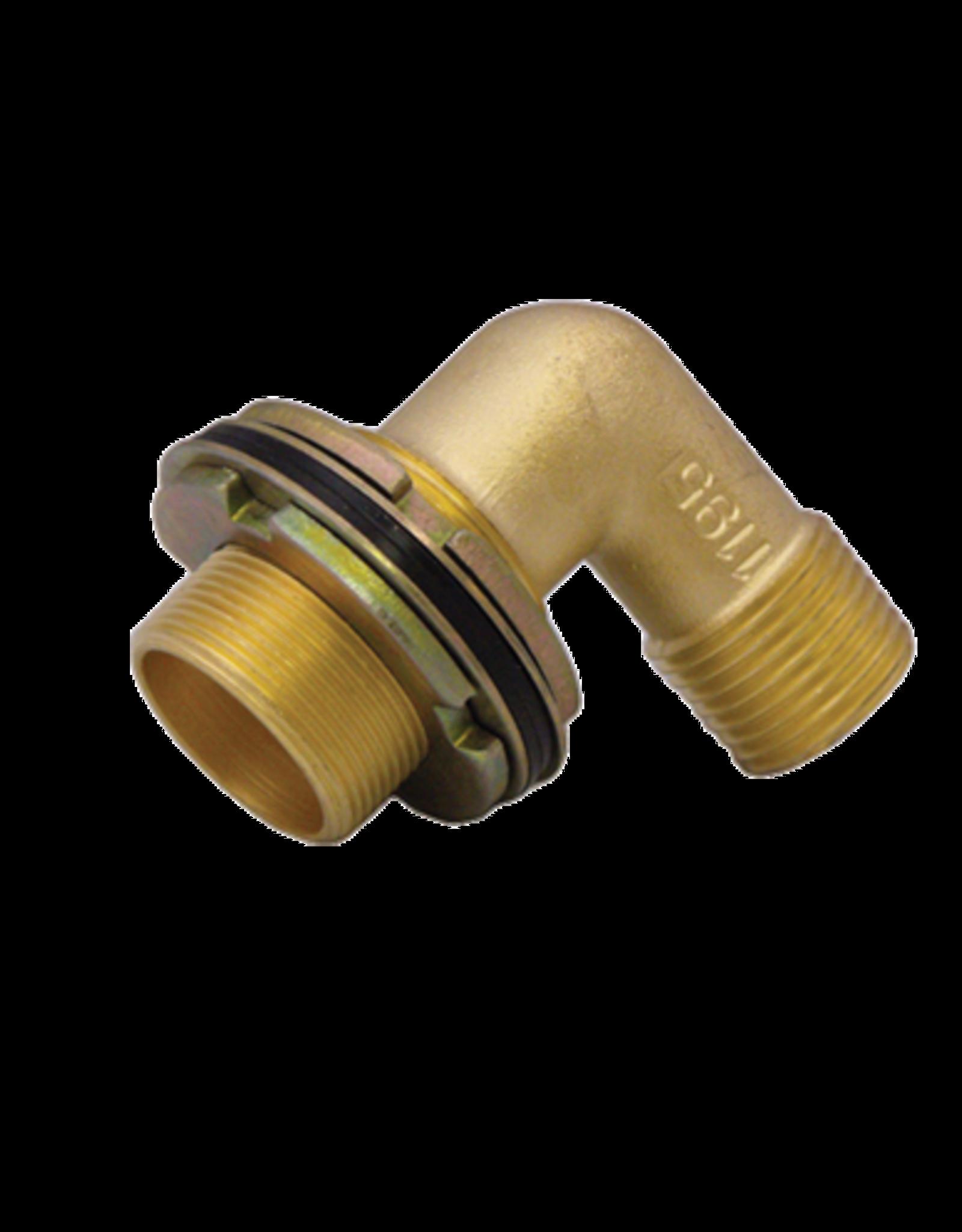 """Locking Shower Elbow x 1/2"""" Copper/MPT"""