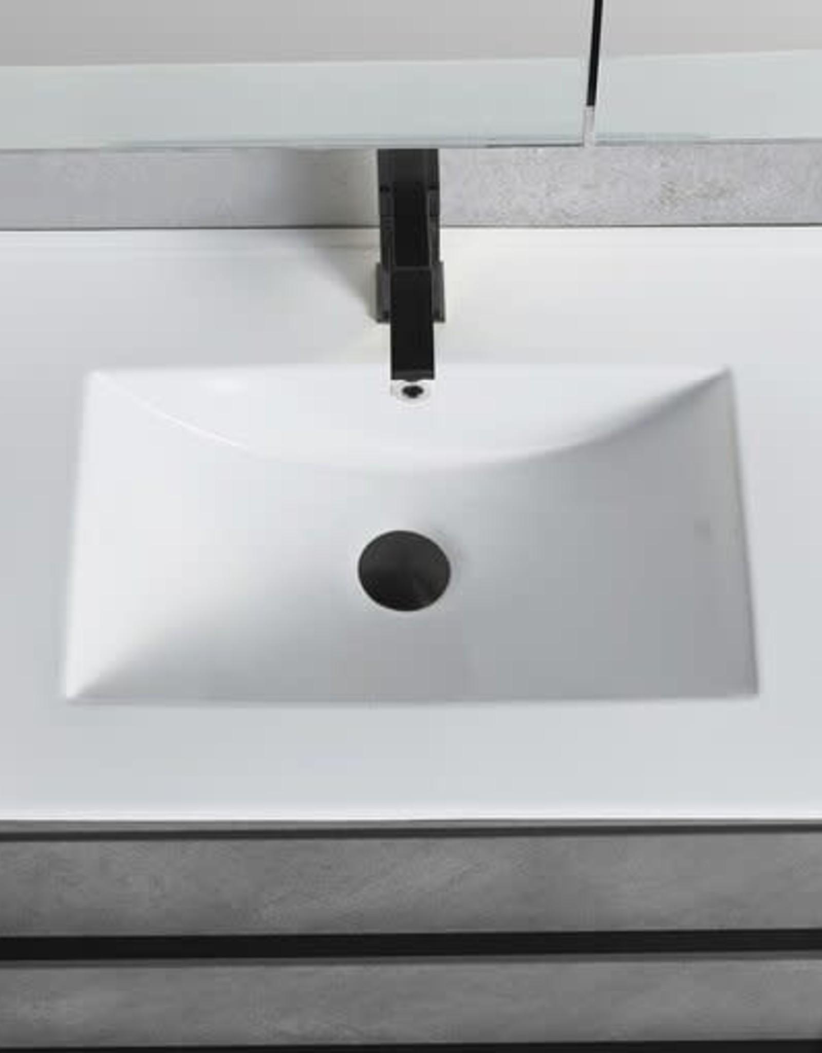 Bagno Italia Bagno Italia Cambridge Vanity w/ White Porcelain Top