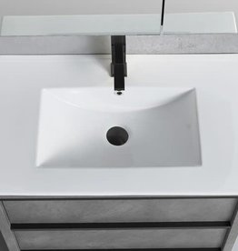 Bagno Italia Bagno Italia Cambridge Vanity w/ White Porcelain Top
