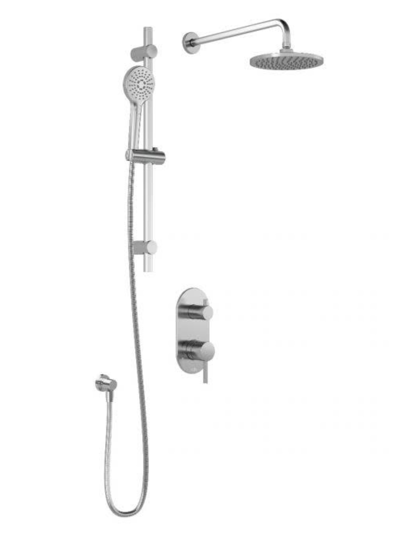 Kalia Kalia Basico PB4- Rain Showerhead w/ Hand Shower- Chrome