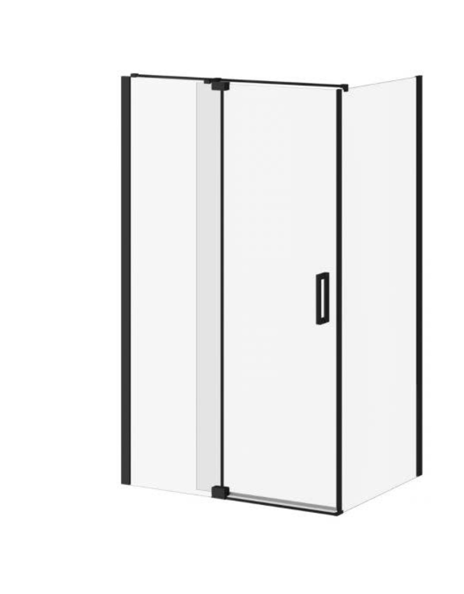 "Kalia Distink Pivot Shower Door 48"" x 36"" Corner Install- Matte Black"