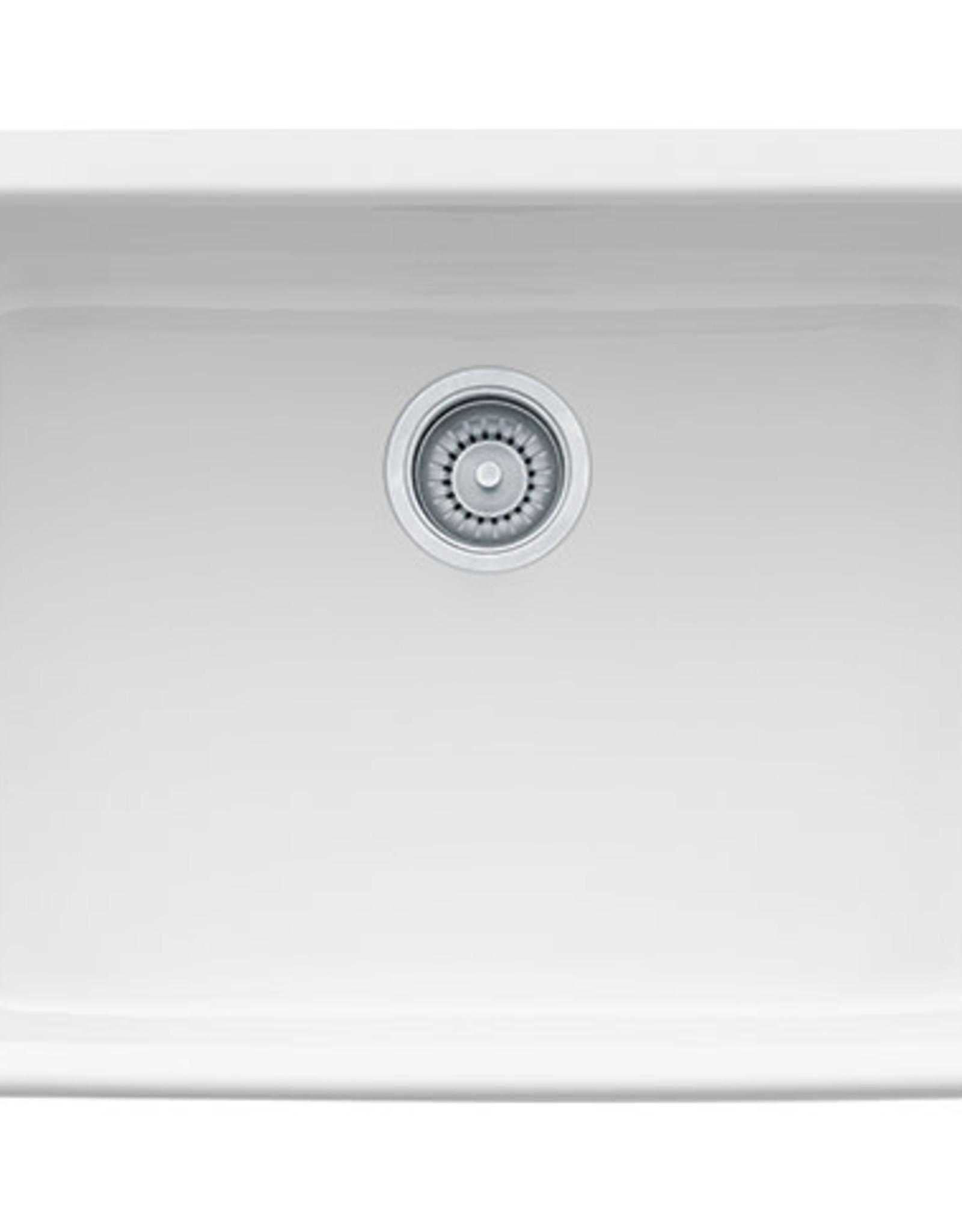 """Franke Franke 24"""" Fireclay Farmhouse Sink- White"""