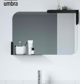 "Umbra Umbra Alcove Mirror Black 30"" x 20"""