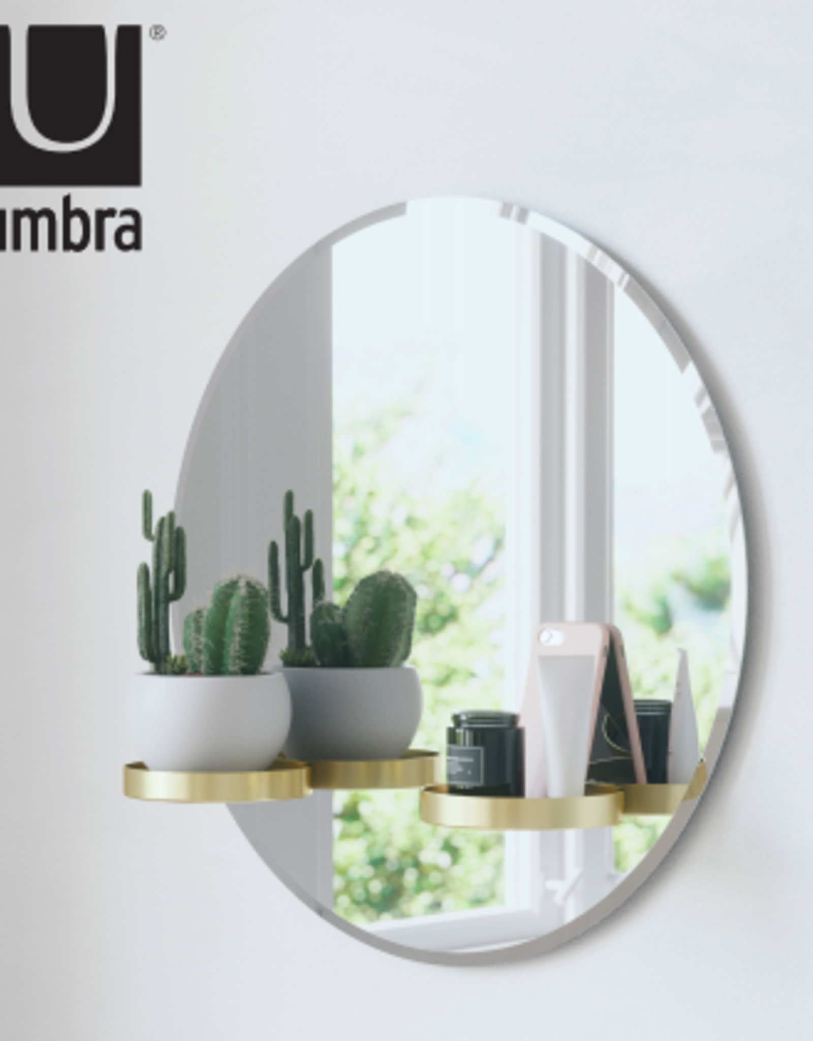 Umbra Perch Mirror Brass 24""