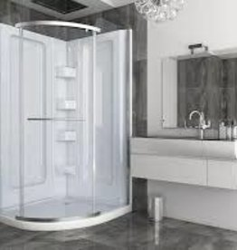 Mirolin Mirolin Sorrento Corner Shower Round White Multi-Piece w Door