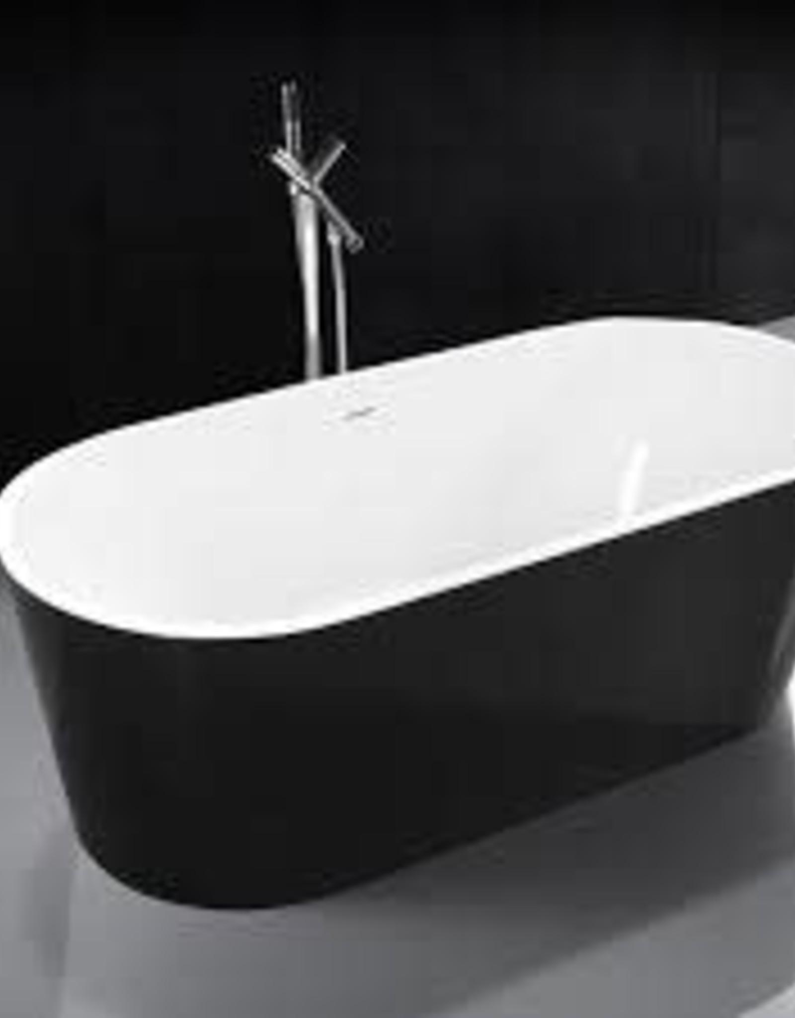 """DM Bath DM Bath 63"""" Victoria Acrylic Tub w Black Exterior"""