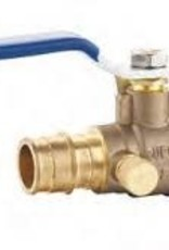 """3/4"""" Cold Expansion Brass Ball Valve w/ Drain"""
