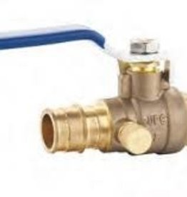 "3/4"" Cold Expansion Brass Ball Valve w/ Drain"