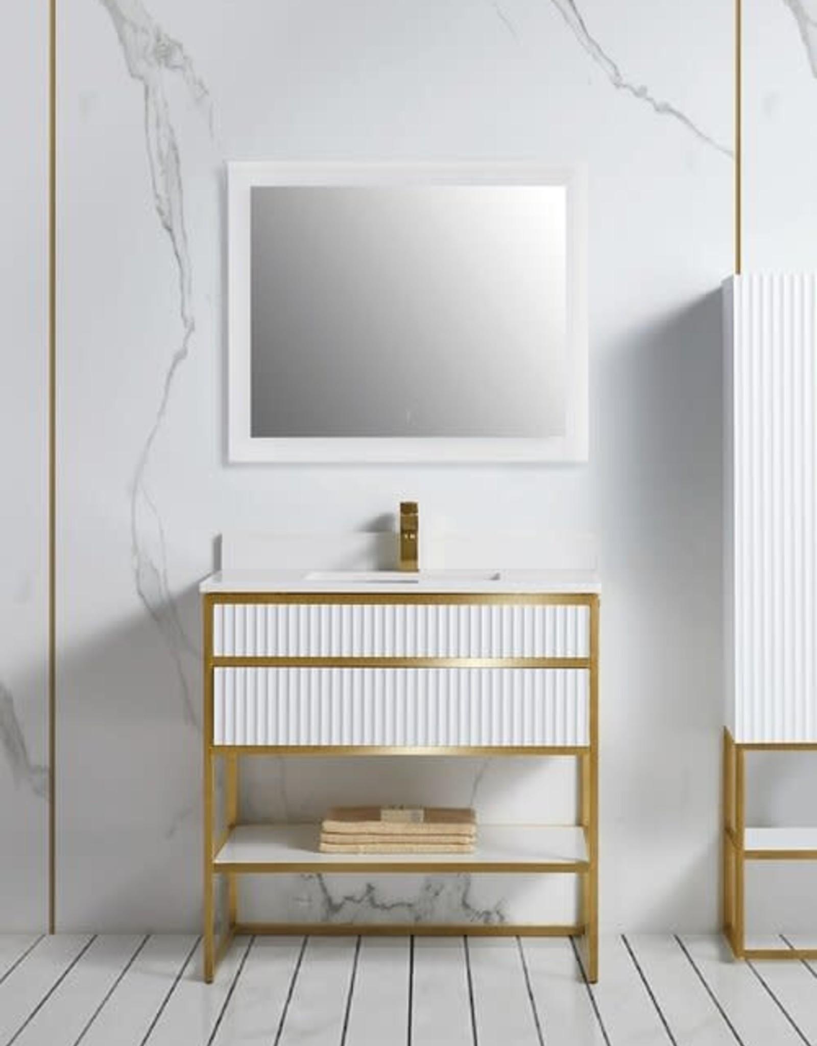 Bagno Italia Bagno Italia Geneva Vanity w/ White Quartz Top