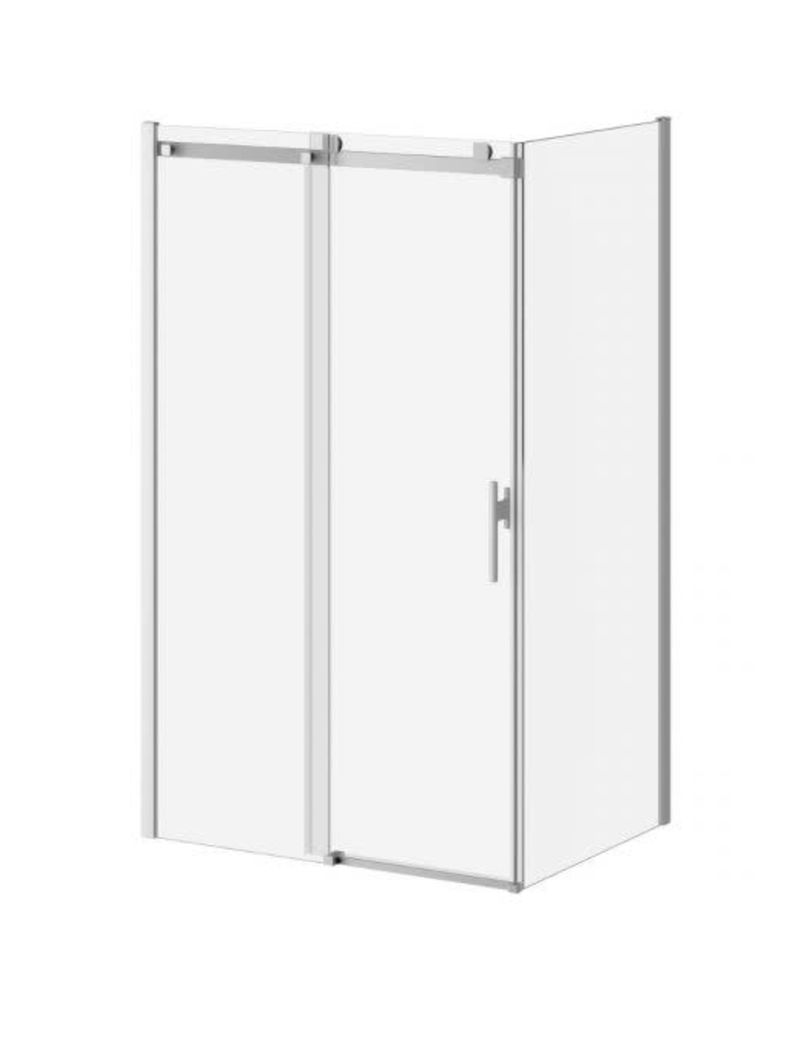 "Kalia Kalia Koncept Evo 48""x36"" Glass Door w Return Chrome/Clear"