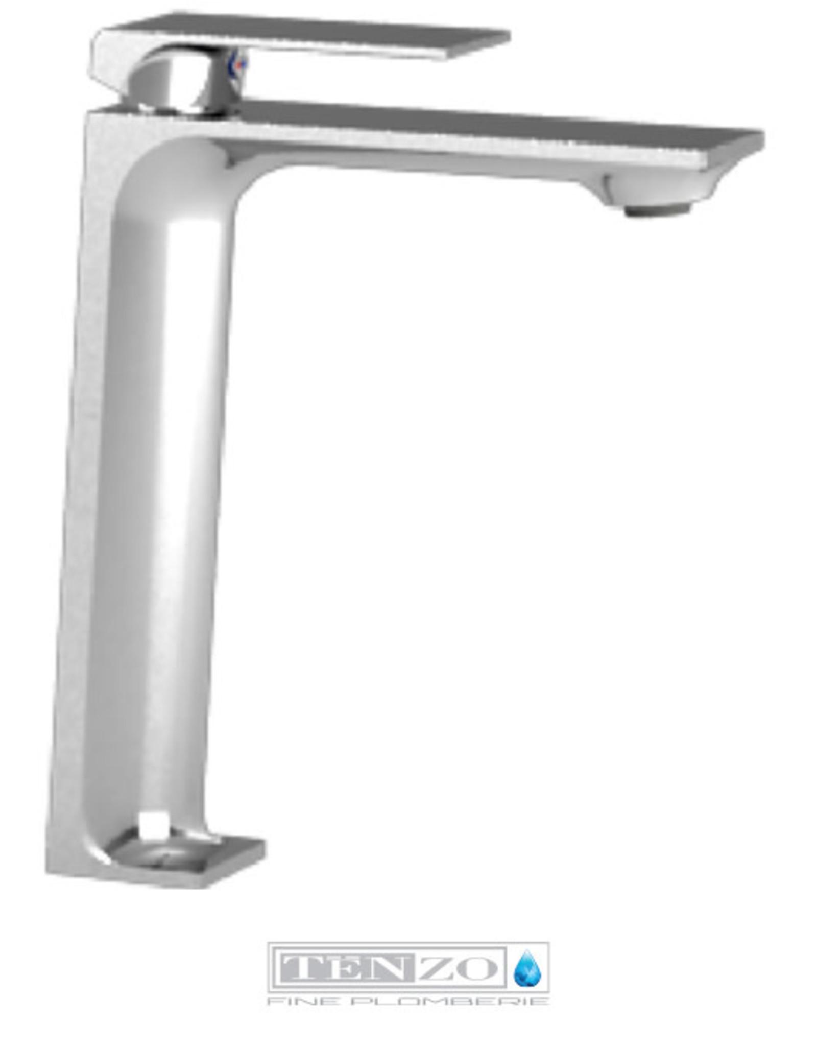 Tenzo Tenzo Slik Vessel Faucet Chrome w/ Drain (No Overflow)