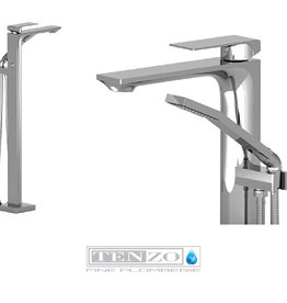 Tenzo Tenzo Slik Freestanding Tub Filler Chrome