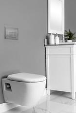 Contrac Contrac Canaan Wallmount White Toilet w Carrier