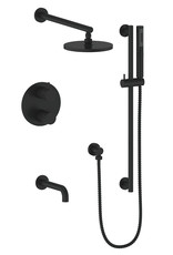 Vogt Vogt Drava 3-Way Thermostatic Shower System Matte Black