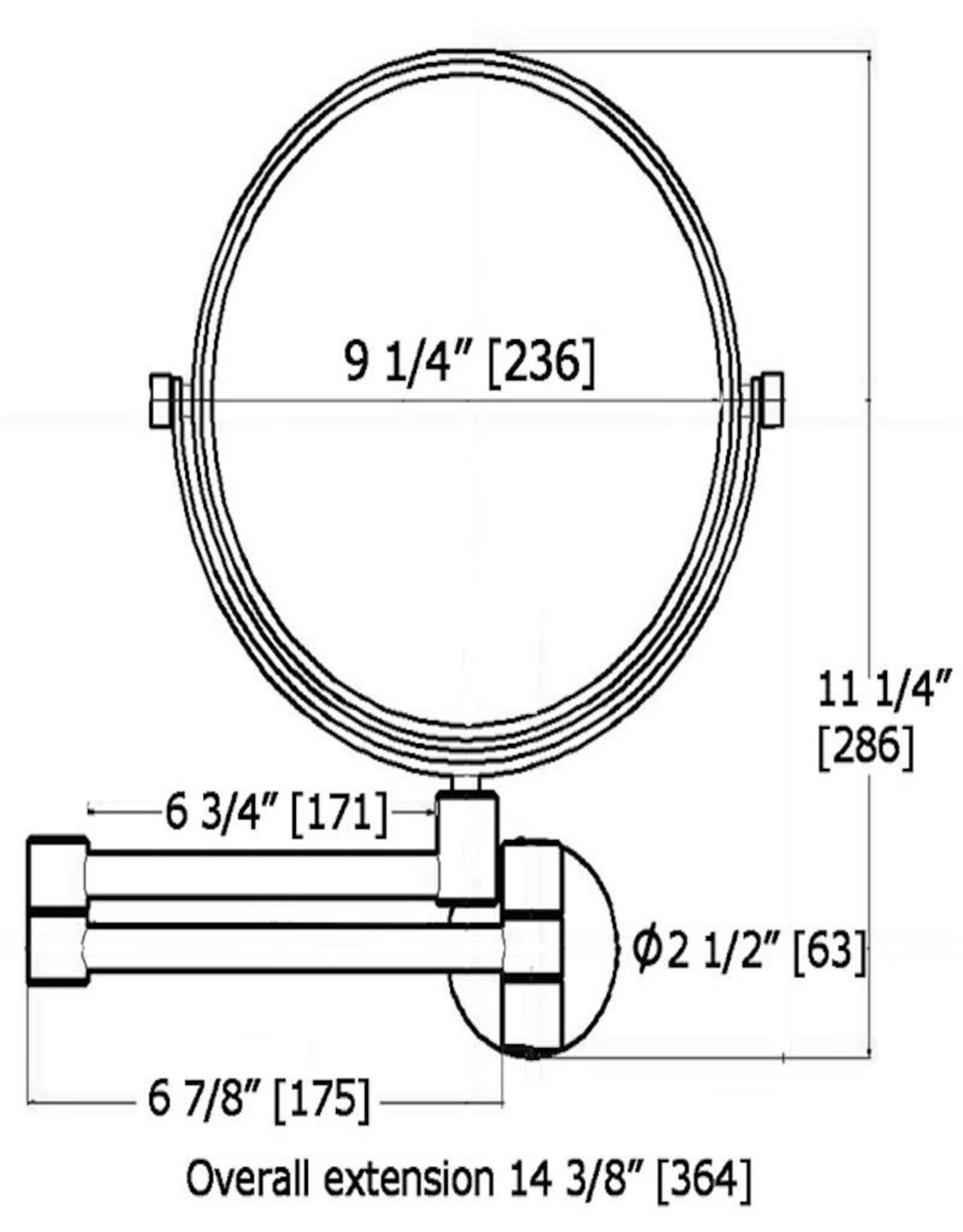 LalOO Laloo Wallmount Swing Magnification Mirror