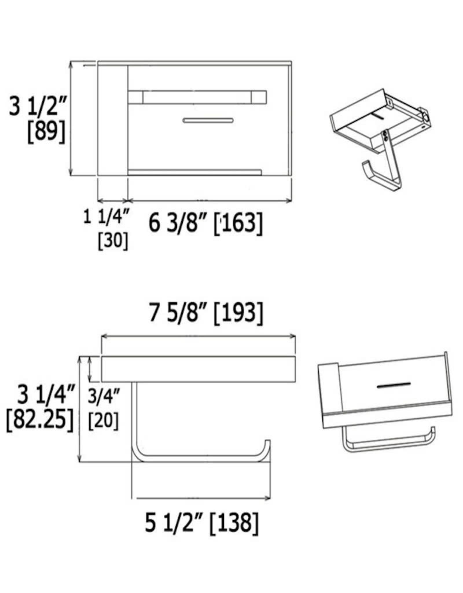LalOO Laloo Paper Holder w/ Shelf
