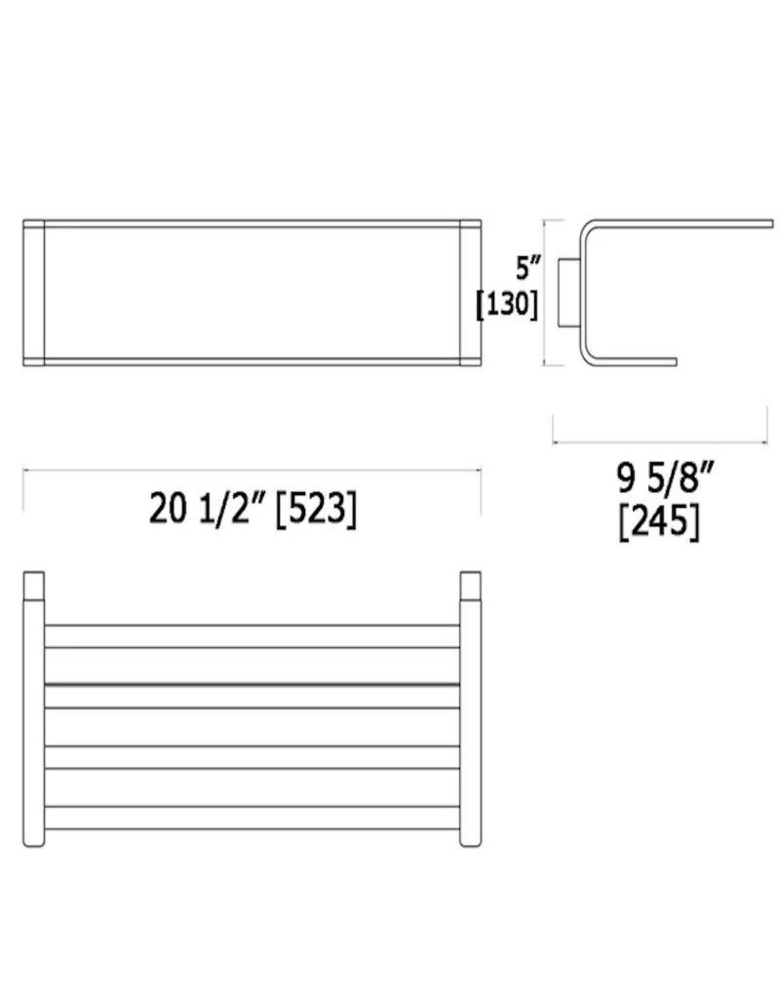 LalOO Laloo Hotel Shelf w/ Single Towel Bar