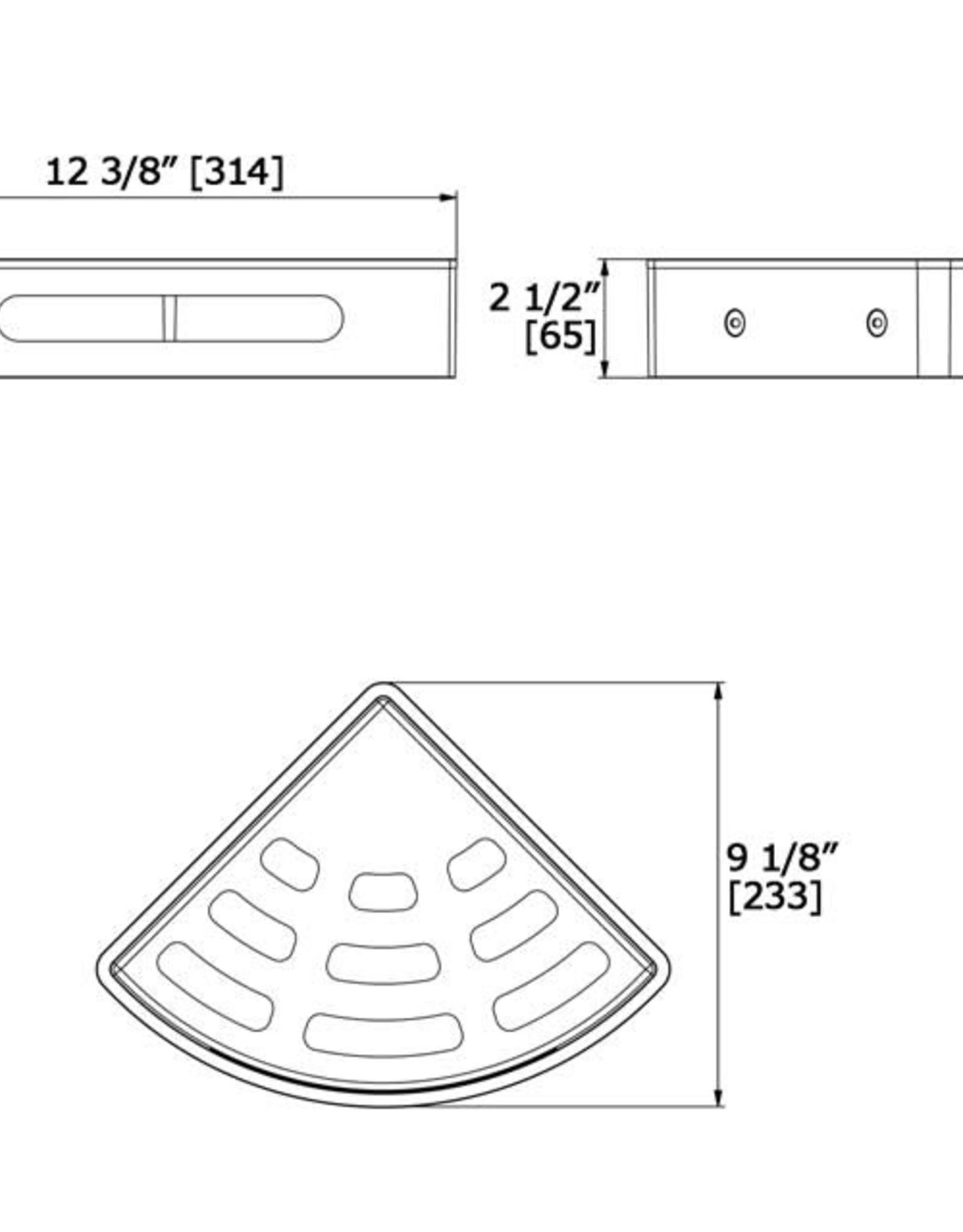 LalOO Laloo Corner Shower Caddy- Removable Inner Basket