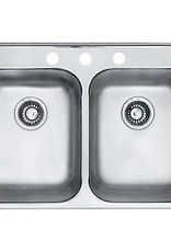 Kindred Reginox Stainless Steel Drop In Sink- 3 Hole