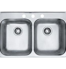 Kindred Reginox Stainless Steel Drop In Sink- 3 Hole