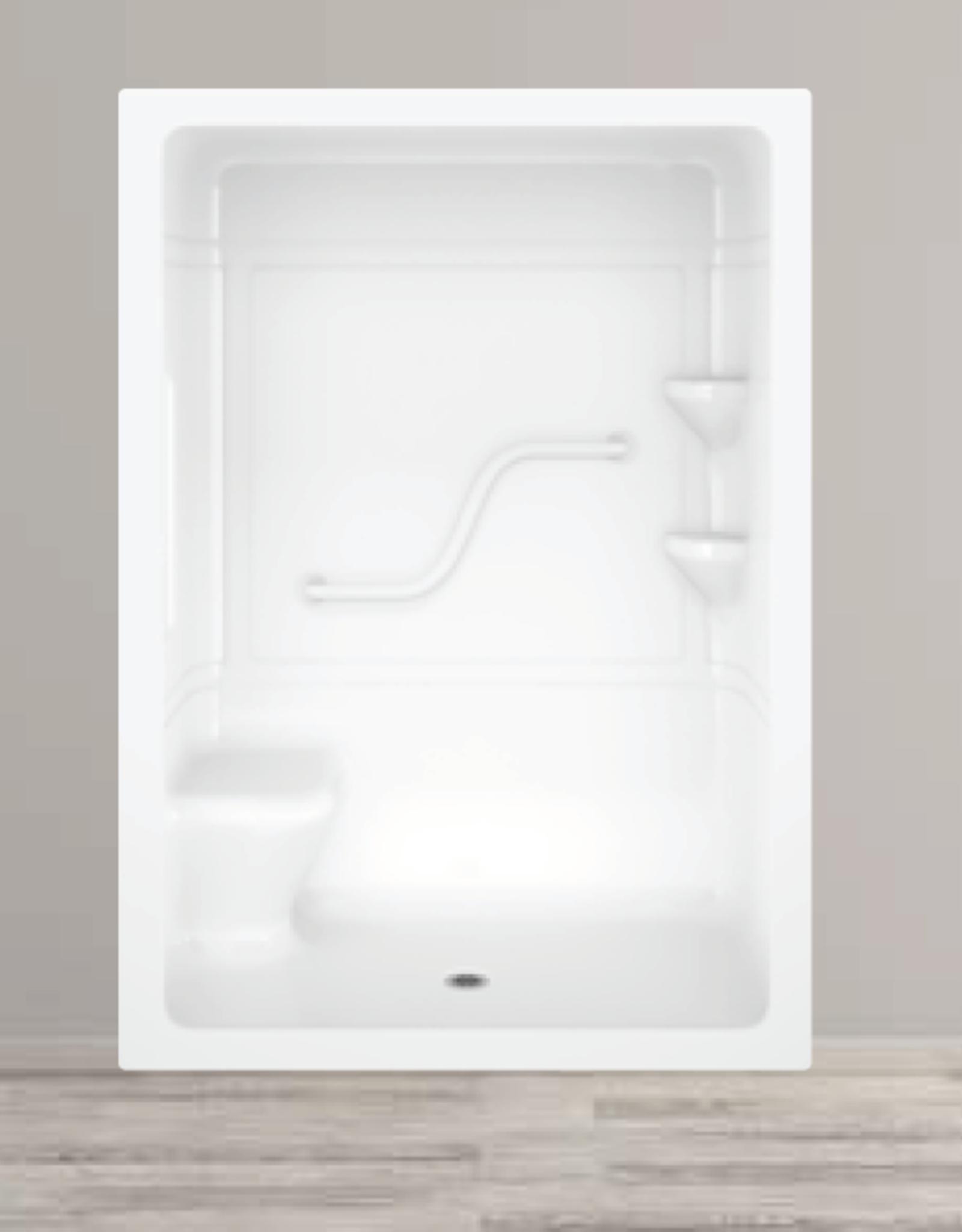 Longevity Longevity  AL2263 3 pc. Shower Left Seat White
