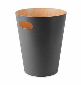 Umbra Umbra Woodrow Charcoal Wood Garbage Bin