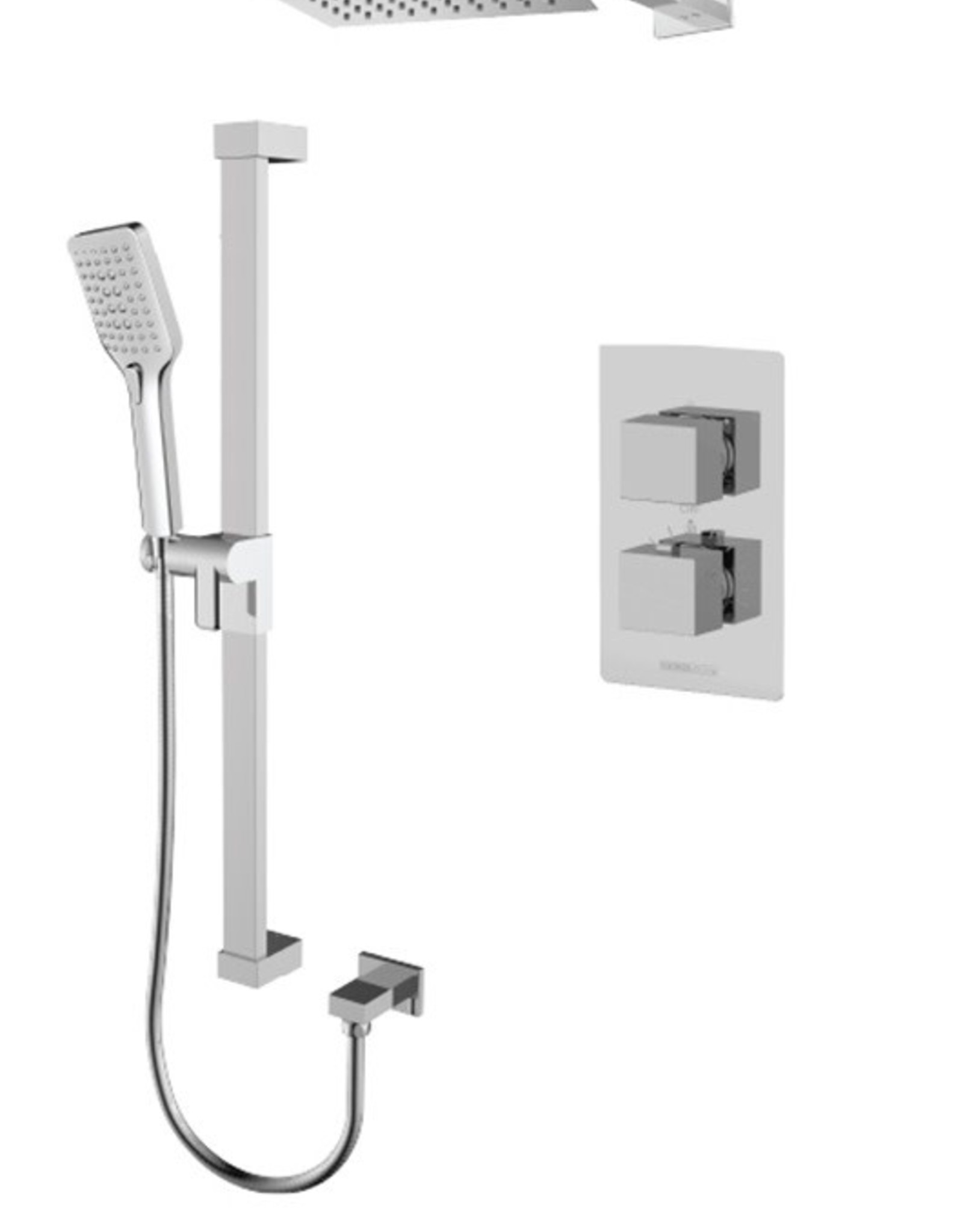 Tenzo Tenzo Slik Thermostatic 2-Way Shower Kit w/ Air Boost Chrome