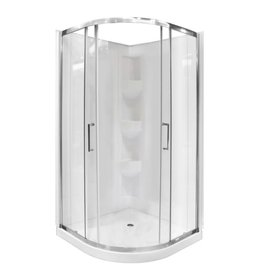 "Bain Signature Bain Signature Riley 38"" Neo Round Corner Shower Unit with Doors"