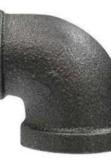 "3/4"" x 1/2"" Black Iron Reducing 90"