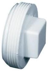 "4"" PVC Sewer Cleanout Plug MPT"
