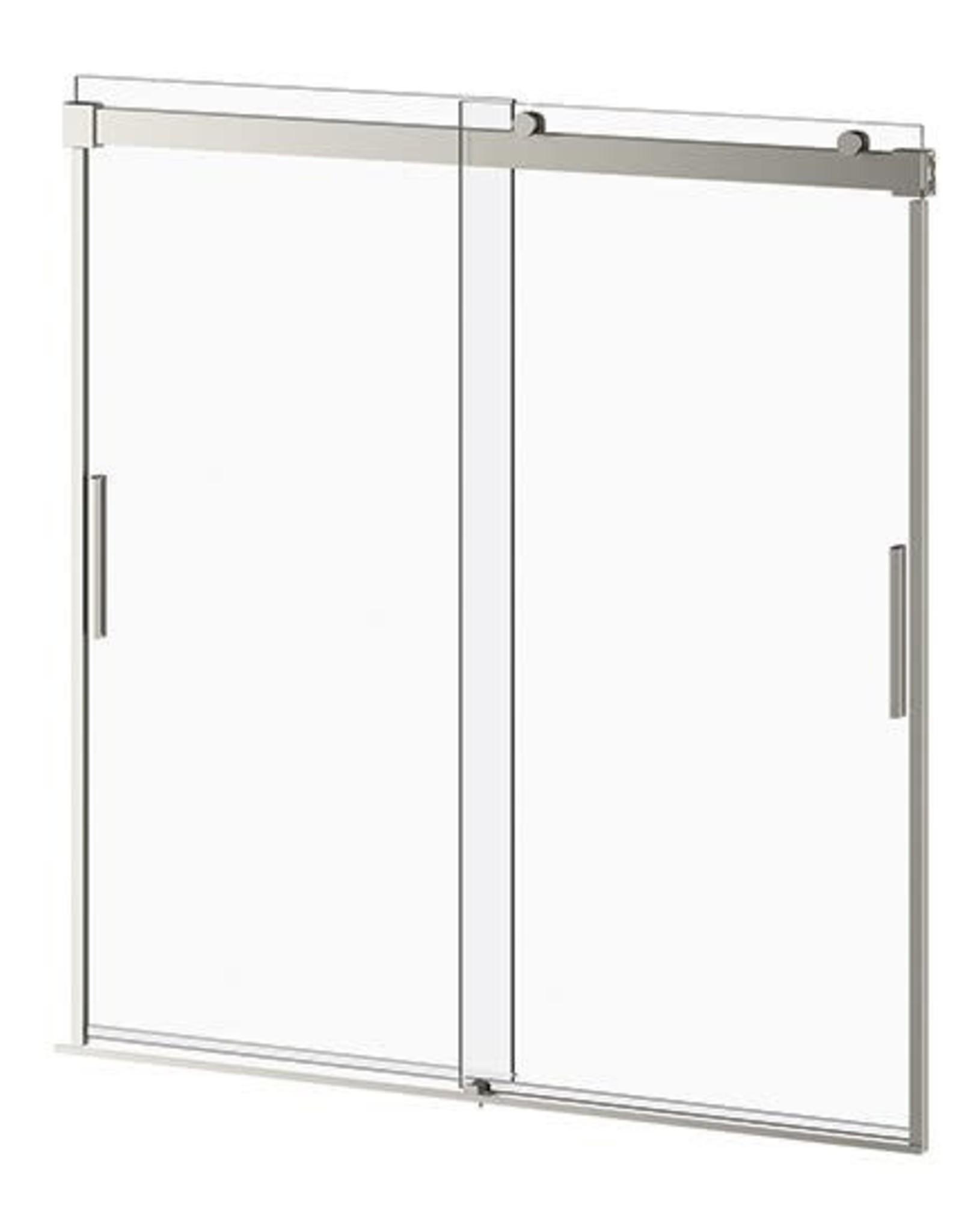 "Kalia Akcess 60"" Alcove Standard Tub Door PLUS- Brushed Nickel"