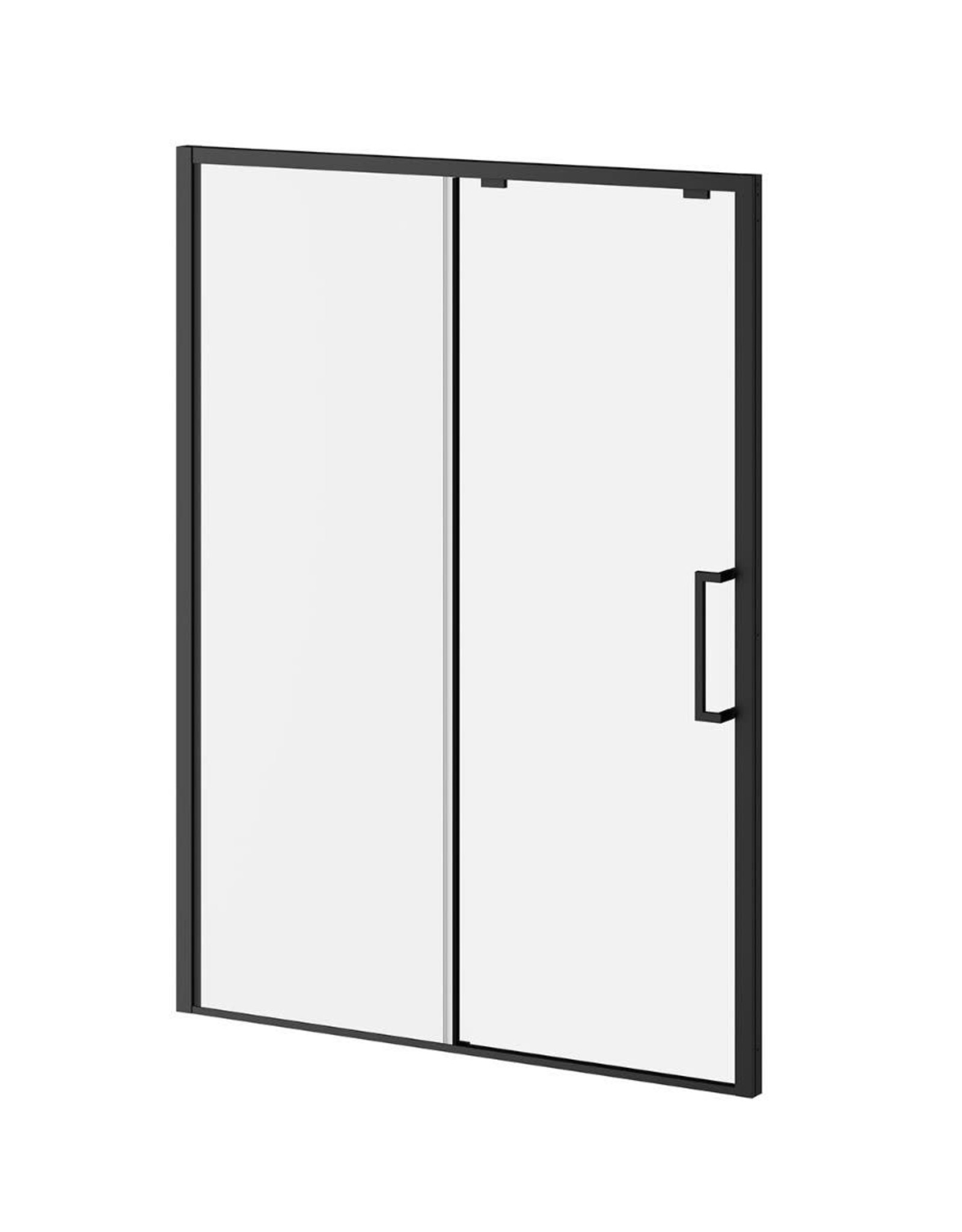 "Kalia Kalia Ikonik 60"" Alcove Shower Door Matte Black/Clear"