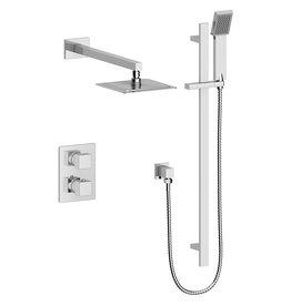 Vogt Vogt Kapfenberg- 2-Way Thermostatic Shower Kit- Handheld With Rainhead