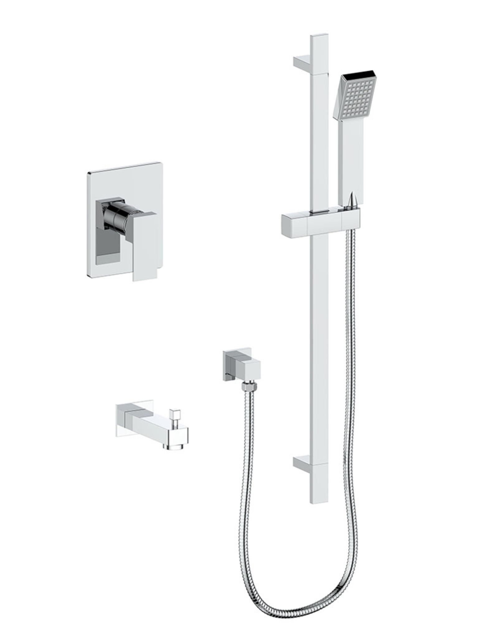 Vogt Vogt Kapfenberg 1-Way Pressure Balance Shower Kit- Handheld and Tub Spout
