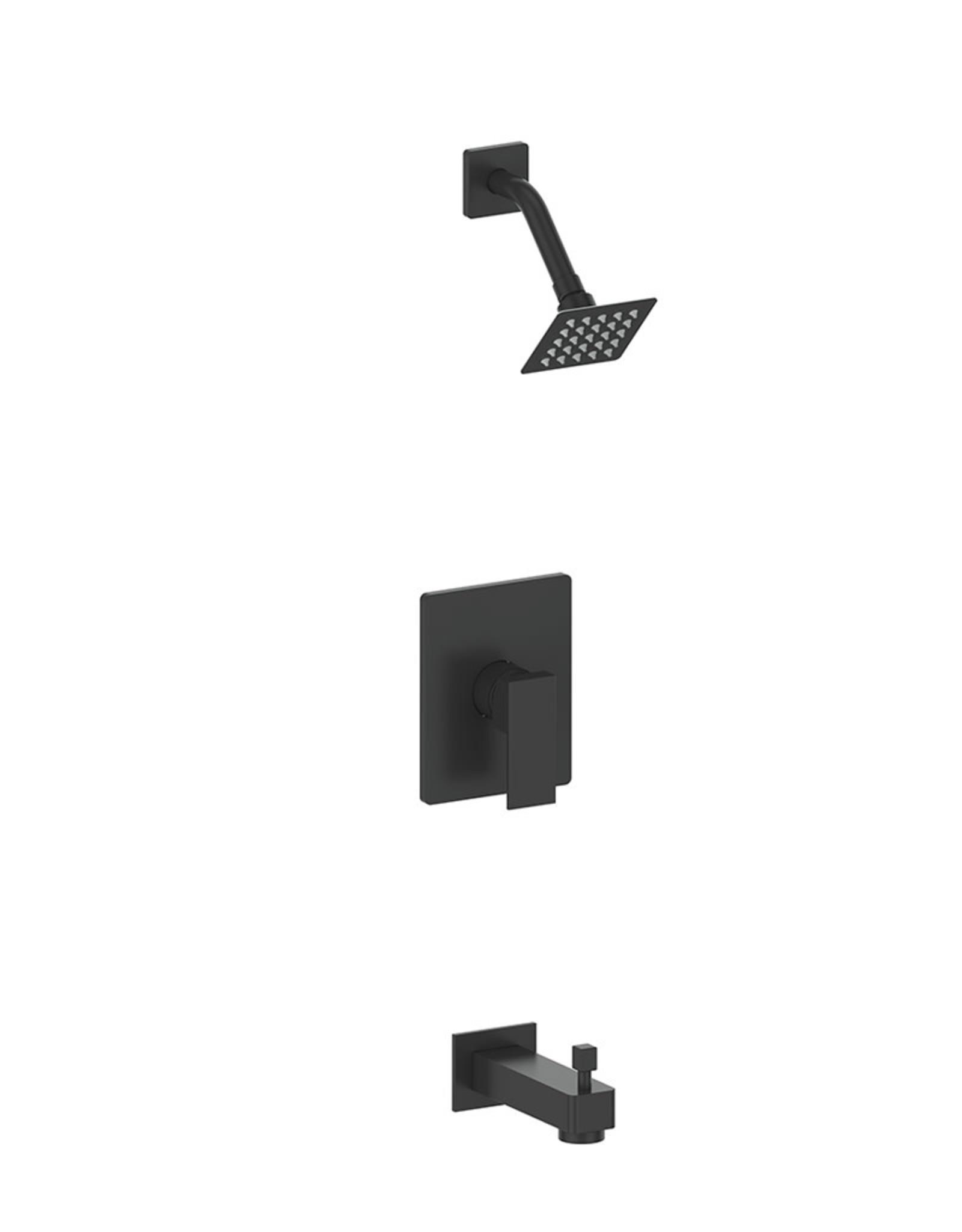 Vogt Vogt Kapfenberg 1-Way Pressure Balance Shower Kit- Fixed Head w/ Tub Spout