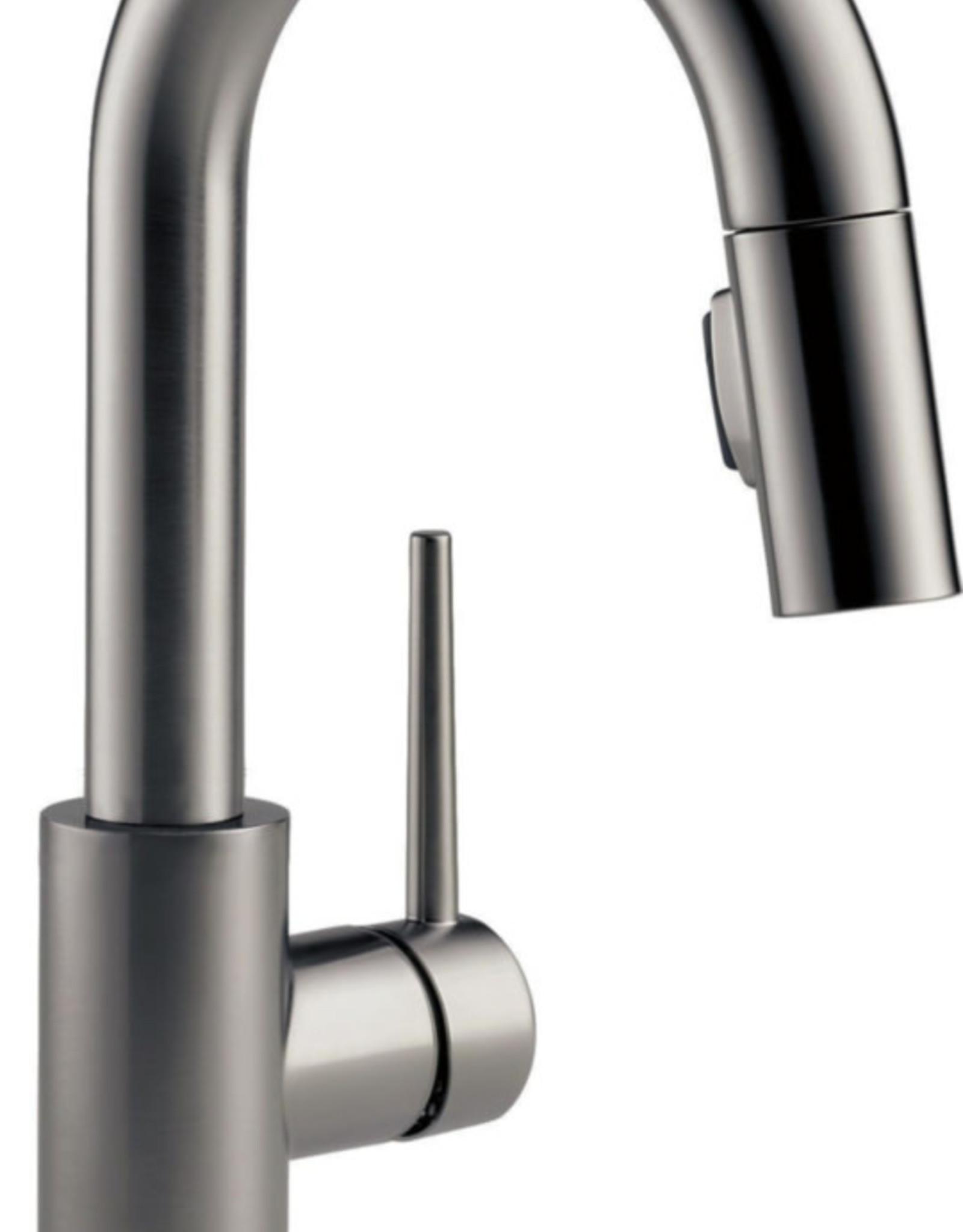 Delta Delta Trinsic Bar/Prep Faucet- Black Stainless