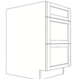 """Classic Brand Cabinetry BASE CABINETS WITH DRAWERS - 34 1/2"""" HIGH x 24"""" DEEP, 3 DRAWERS"""