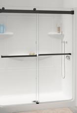 Longevity Longevity GEM 55 Shower Door Black/Clear