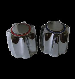 Lyncar Plastic Large Corona Handle Pair For Emco  Lavatory or Kitchen  Chrome