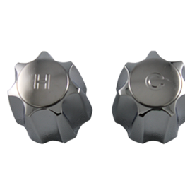 Lyncar Metal Large Corona Handle Pair For Emco Lavatory or Kitchen Chrome