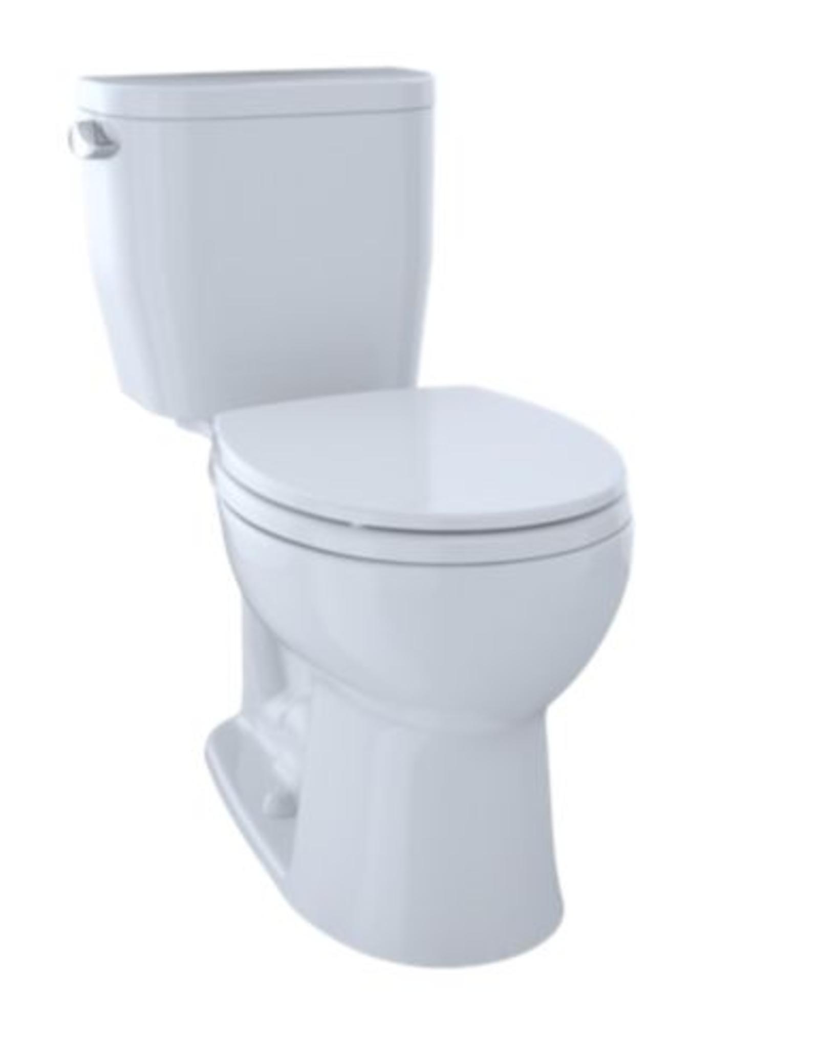 Toto Toto Entrada Right Height Round Toilet White w/ Seat