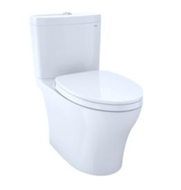 Toto Toto Aquia IV 1-pc Elongated, RH Skirted Dual Flush Toilet- White