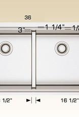 """Bosco Bosco Stainless Steel Undermount Double Bowl Linear Sink 36"""" x 16"""""""
