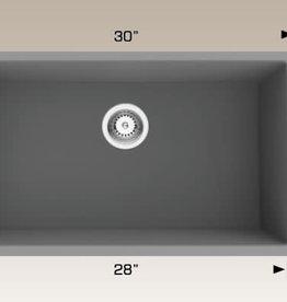 "Bosco Bosco Single Granite Undermount Sink 30"" x 18"" Grey"