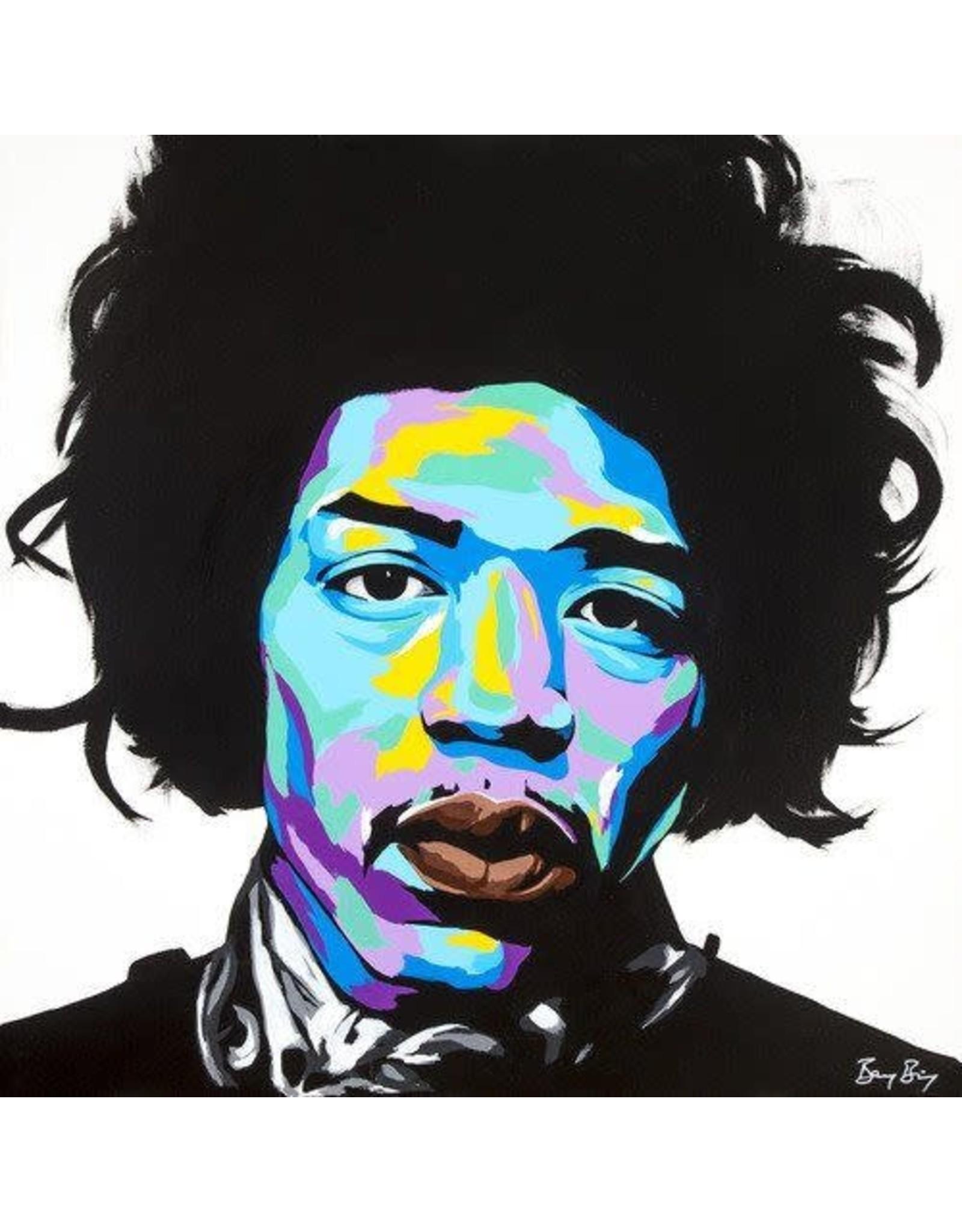 Benny Bing Benny Bing - Jimi Hendrix 30x30 Framed